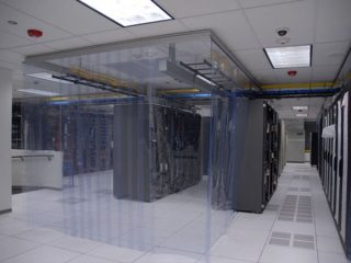 Kurtyny paskowe do serwerowni